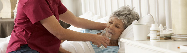 Pflege einer Patientin