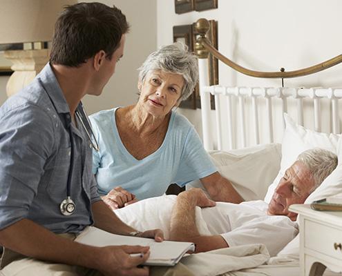 Pflege eines Patienten